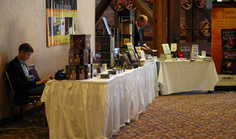 Image result for images of chalcedon conference book tables